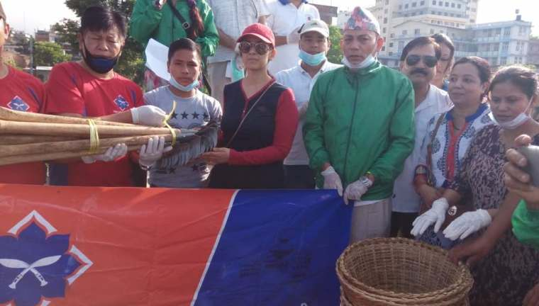 Manisha Koirala during the Bagmati River Cleaning Campaign